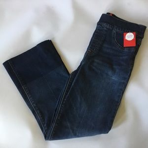 Spanx Denim Flare Cropped Jeans Small Blue Wash